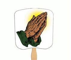 Fan with hands praying